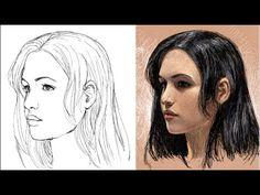como dibujar la cara de tres cuartos (explicado) - YouTube