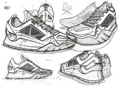 Sneakers sketch, shoe sketches, nike design, sketch inspiration, sneakers f Shoe Sketches, Fashion Sketches, Design Nike, Sneakers Sketch, Moda Sneakers, Shoe Advertising, Sketch Inspiration, Sketch Design, Design Reference