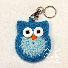 Owl Key Ring / Key Chain CROCHET PATTERN (keyring, keychain)