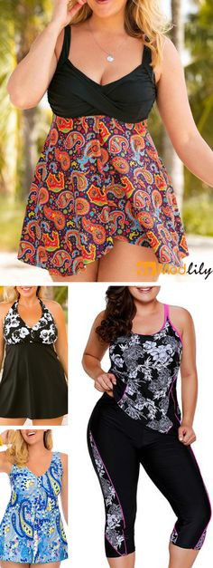 393889da0a1 plus size, printed, casual. Wearing favorite swimwear to enjoy your  holiday. Beach