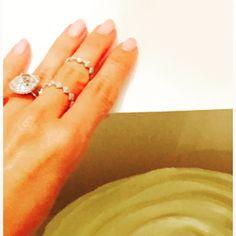I luv u @lorraineschwartz !!! Thank u for my birth day gift!!! #middlefingerrings