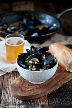 Spicy Steamed Mussels In Stone Pale Ale  http://www.stonebrewing.com/pale/