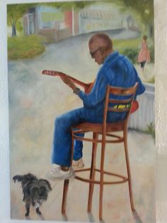 New artist Janice Haynes. Oil painting.
