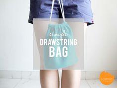 DIY Tutorial: Simple Drawstring Bag | onelmon via. A Nest for All Seasons
