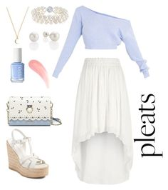 """"""""""" by kushina56 ❤ liked on Polyvore featuring River Island, Yves Saint Laurent and Essie"""