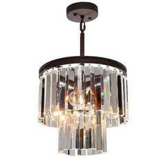 Artcraft Lighting AC10403JV El Dorado 3 Light Crystal Pendant