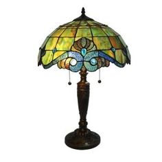 Serena D'italia 25 in. Tiffany Pearl Bronze Vintage Table Lamp-DYL8077TL at The Home Depot