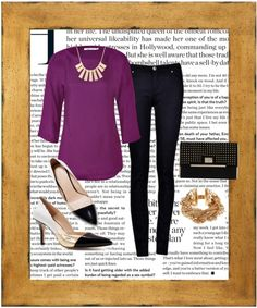 """""""purple black and gold"""" by wanderbabble on Polyvore"""