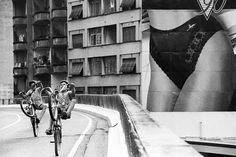 Minhocão aos domingos e feriados, em São Paulo, no ano de 1990 (Foto: Nair Benedicto/N-Imagens)