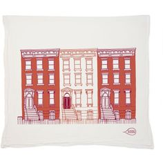 Claudia Pearson Brownstone Red Tea Towel ($16) ❤ liked on Polyvore featuring home, kitchen & dining, kitchen linens, red kitchen towels and red tea towels