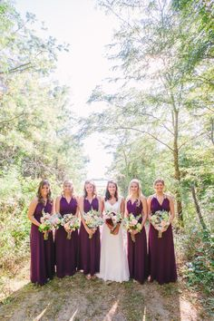 purple bridesmaids look #bridesmaid #bridalparty #weddingchicks http://www.weddingchicks.com/2014/02/20/outdoor-romance-wedding/