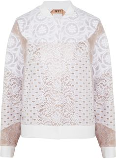 No.21 No. 21 Genie lace, broderie anglaise and embroidered jacket on shopstyle.co.uk