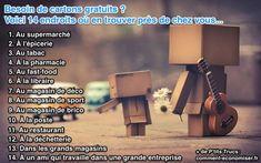 """Besoin de cartons gratuits ? Vous déménagez bientôt et vous n'avez pas de cartons pour """"faire vos cartons"""" ? Pas de panique ! Il existe une solution très astucieuse pour trouver gratuitement des cartons.  Découvrez l'astuce ici : http://www.comment-economiser.fr/ou-trouver-cartons-gratuits.html?utm_content=buffer8e08f&utm_medium=social&utm_source=pinterest.com&utm_campaign=buffer"""