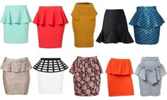 Check out The Lady Loves Couture's style guide to the fashionable and trending peplum skirt! Pull off this playful and sophisticated piece with our help. The Lady Loves Couture, Love Couture, Couture Mode, Couture Fashion, Rock, Skirt Fashion, Style Guides, Sewing, My Style