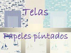 Coordinando telas y papeles pintados de barcos para habitaciones de chicos - Villalba Interiorismo