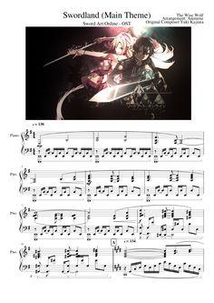 Sword Art Online - Swordland (Main Theme) - Piano - VideoScore