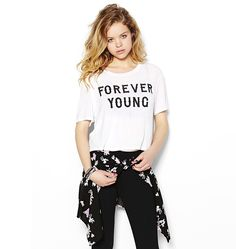 """Forever Young"" Cropped Top."