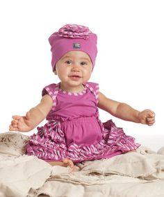 Look what I found on #zulily! Raspberry Rosette Beanie #zulilyfinds