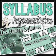 "This engaging and visually appealing hyperslide resource covers the main components of a middle or high school syllabus. I've included a ""gameboard-syle"" interactive slide with links to each page in the syllabus. In addition, I have included a scavenger hunt activity at the end of the syllabus ensur... High School Syllabus, School Scavenger Hunt, Middle School Geography, Cult Of Pedagogy, Classroom Expectations, Meet The Teacher, Classroom Supplies, History Class, Google Classroom"