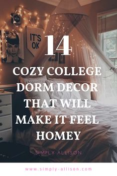 14 Cozy Dorm Decor ideas that will make you feel at home. 14 Cozy Dorm Decor ideas that will make you feel at home. These are great and cheap dorm decor. I totally have some of these cozy decor in my room.