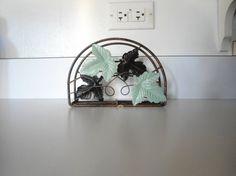 Patina Painted Vintage Copper Napkin Holder by LandofBridget