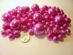 No Hole Jumbo//Assorted Sizes for Vase Decorations Coral Pink Pearls