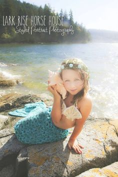 Set of 2 Crochet Patterns for Mermaid Tail and Shell Bikini Top Photography Props - Welcome to sell finished items