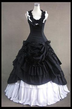 Cheap dresses for attending wedding, Buy Quality dress a pear shaped figure directly from China gown dress Suppliers: Black and White Civil War Southern Belle Lolita Ball Gown Dress Hallowmas Party Dresses 1800s Dresses, Old Dresses, Ball Gown Dresses, Pretty Dresses, Beautiful Dresses, Dress Up, Dress Shirt, Fancy Dress, Gothic Victorian Dresses
