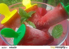 Ovocné vodové nanuky recept - TopRecepty.cz Watermelon, Ice Cream, Fruit, Dog, No Churn Ice Cream, Icecream Craft, Ice, Gelato