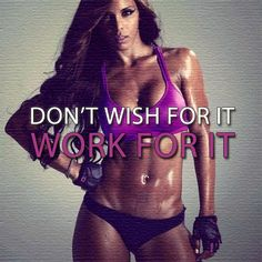 Staying motivated and on track is the key to fitness success. Hard work ='s RESULTS!!!