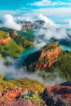 Blyde River Canyon is Mpumalanga, South Africa - No Way these colors are real, but they're beautiful. - Photo