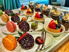 Dessert Display -Trio Plate, Fruit Tart, Peanut Butter Mousse Cup