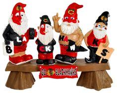 Chicago Blackhawks Gnome - Fans on Bench
