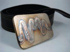 Electric Rainbow Worm Belt Buckle  Stainless by RhythmicMetal, $55.00