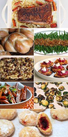 A Once-in-a-Lifetime Thanksgivukkah Menu – Hanukkah Kosher Recipes, Healthy Recipes, Healthy Food, Sweet Potato Latkes, Thanksgiving Potluck, Israeli Food, Jewish Recipes, Food Crafts, Meals For The Week