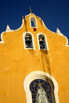 Izamal, Mexico - the whole center of town is painted this color. One of my favorite cities in the Yucatan :)