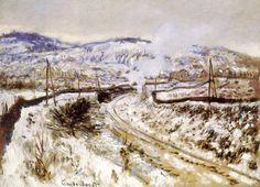 Train dans la neige à Argenteuil (C Monet - W 360),1875.