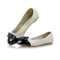 [GBP £ 9.50] Faux Leather Woman's Flat Heel Ballerina Flats Shoes