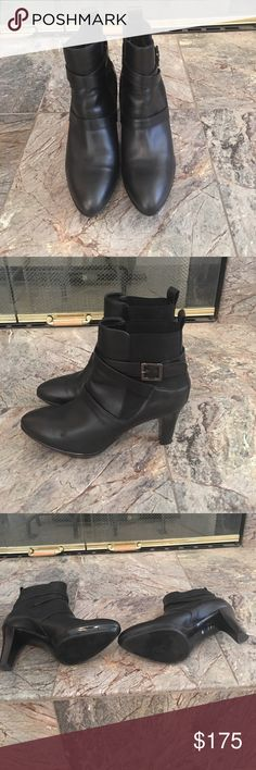 Ankle boots Aquatalia leather ankle boots with elastic goring on the sides for easy entry Aquatalia Shoes Ankle Boots & Booties