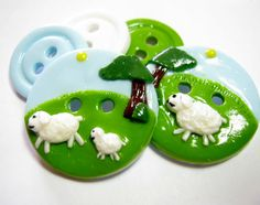 Little lamb set of 5 by TessaAnn on Etsy