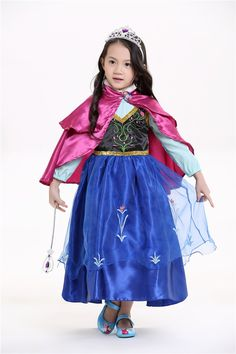 Disney Princess アナと雪の女王 プリンセス ドレス コスチューム 子供