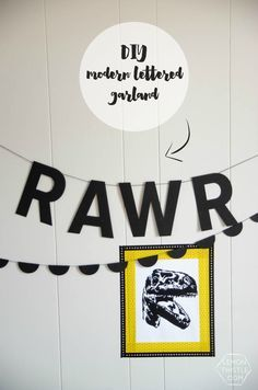 DIY Modern Lettered Garland- awesome for a party or for a kids room!