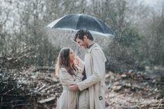 Christie & Stephen - Kent Engagement Photography - Umbrella Rain Photography Shot Couple Wedding Photographer