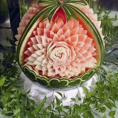 Carved watermelon, from Home Is Where the Heart Is, https://www.facebook.com/homeiswheretheheartis7