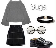 Outfits - Suga inspired outfits Outfits I like, want or gonna use . - Outfits – Suga inspired outfits Outfits I like, want or gonna use in a book I don't own any photos I … Random Source by - Kpop Fashion Outfits, Mode Outfits, Korean Outfits, Girl Outfits, Mode Kpop, Bts Clothing, Mode Grunge, Bts Inspired Outfits, Korean Fashion Kpop Inspired Outfits