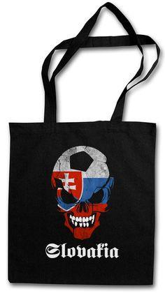 Classic Slovakia Football Soccer Skull Shopper Shopping Bag - Fan Hooligan