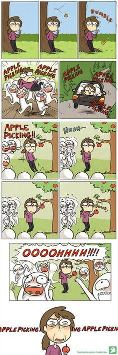 Hilarious Comics For Socially Awkward People Life Comics, Bd Comics, Funny Comics, Stupid Funny, Funny Cute, Really Funny, Hilarious, The Pigeon Gazette, Apple Picking Season