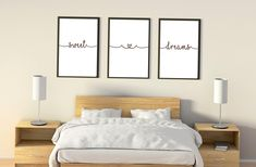 Wall Decor Quotes, Wall Art Decor, Nursery Art, Nursery Decor, Artwork Above Bed, Bedroom Quotes, Printable Wall Art, Sweet Dreams, Minimalist