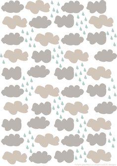 cloud cuckoo designs. rainy clouds.