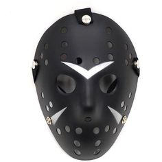 All Black Cosplay Costume Prop Hockey Horror Halloween Mask ($9.95) ❤ liked on Polyvore featuring costumes, halloween, masquerade halloween costume, mardi gras costumes, cosplay costumes, horror halloween costumes and masquerade costumes